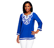Linea by Louis DellOlio Embroidered Tunic - A253384