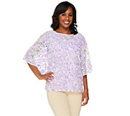 Bob Mackies Floral Lace Caftan Top - A254284