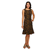 Isaac Mizrahi Live! 24/7 Stretch Animal Print Dress - A255884