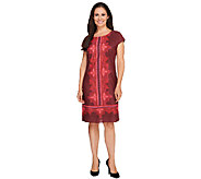 Isaac Mizrahi Live! Paisley Print Short Sleeve Dress - A256484