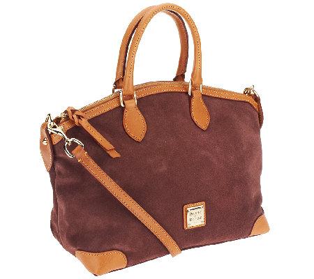 Dooney amp bourke suede leather satchel