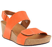 Clarks Leather Wedge Backstrap Sandals - Auriel Fin - A260784