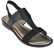 Me Too Metallic T-strap Sandals with Goring - Zoey - A264784