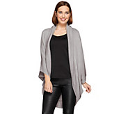 Layers by Lizden Marvelush Ribbed Shawl Collar Shrug - A270284