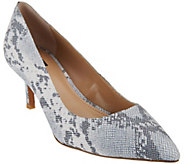 G.I.L.I. Leather Pointed Toe Mid-heel Pumps - Georgette - A275684