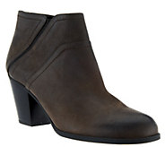 As Is Franco Sarto Leather Ankle Boots - Domino - A277684