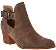 Sole Society Suede Cut-out Ankle Boots - Olive - A282184