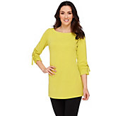 As Is Susan Graver Passport Knit Bateau Neck Tunic - A282984