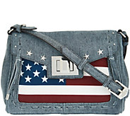 As Is Aimee Kestenberg Leather Flag Crossbody - Washington - A283384