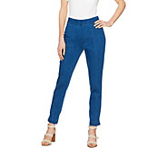 C. Wonder Petite Denim Pull-On Ankle Jeans with Seam Detail - A289784
