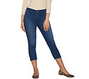 Laurie Felt Silky Denim Capri Jeans with Zip Detail - A290884