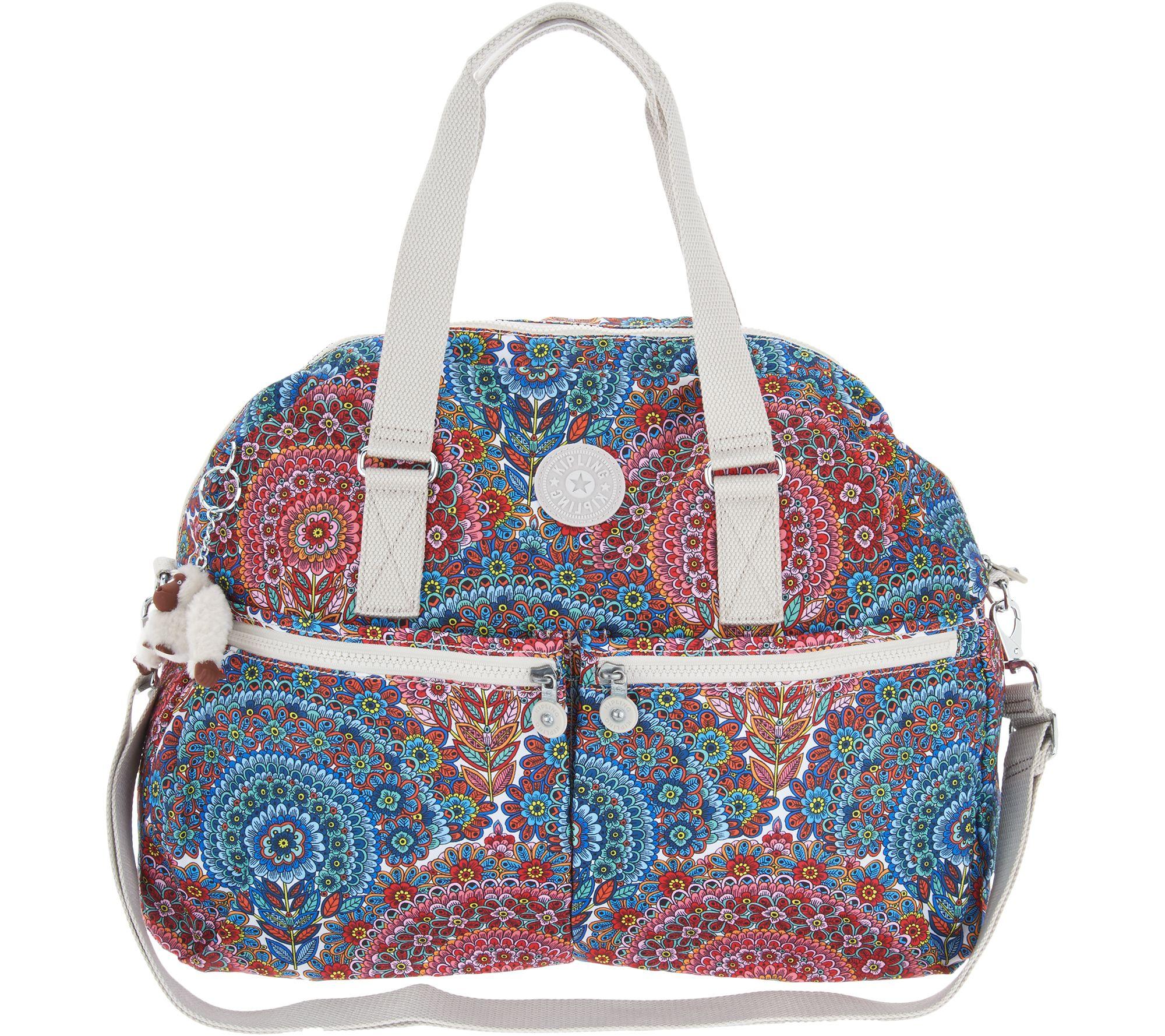 2671bae13287 Michael Kors Gia satchel features a Kipling Nylon Oversized Satchel -Eugina  - A299684 ...