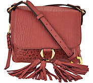 As Is orYANY Lamb Leather Crossbody Bag- Daisy - A301184