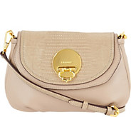 As Is orYANY Pebble Leather Crossbody- Alek - A302784
