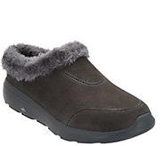 As Is Skechers GOWalk Suede Faux Fur Clogs - Brilliant - A306184