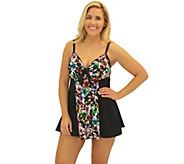 Fit 4 Ur Thighs Havana Tie-Front DressSwimsuit - A358284