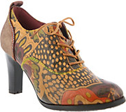 Spring Step LArtiste Leather Lace-Up Shoes - Luella - A360484