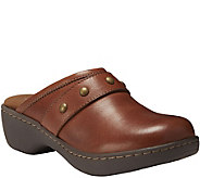 Eastland Leather Open Back Clogs  - Gabriella - A361684