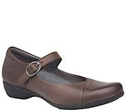 Dansko Leather Mary Janes - Fawna - A362084