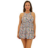 Fit 4 Ur Thighs Freebird Microfiber Hi Neck Babydoll Dress - A364784