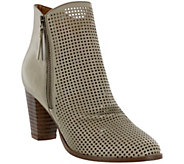 MIA Shoes Perforated Ankle Booties - Riya - A411884