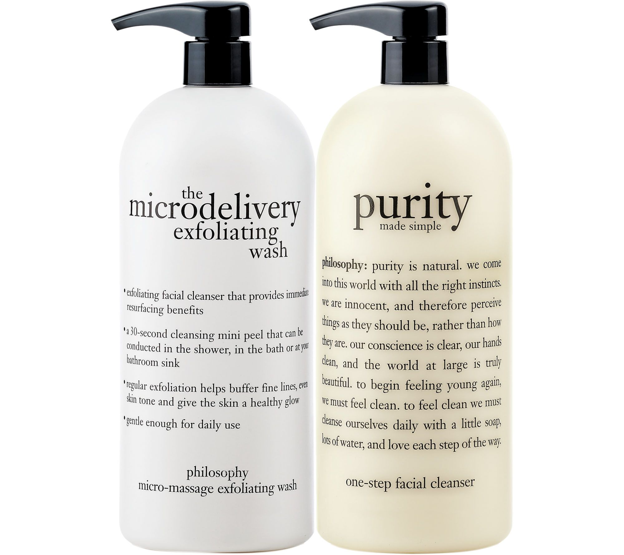 philosophy super size purity made simple and microdelivery