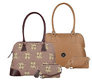 Dooney & Bourke Donegal Crest or All Weather Leather Satchel w/ Accessories - /A74585