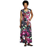 George Simonton Signature Print Regular Maxi Dress with Seaming Detail - A234485