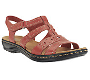 Clarks Leather Multi-Strap Sandals - Leisa Apple - A252385