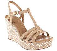 Clarks Artisan Leather Multi-strap Wedge Sandals - Amelia Avery - A252685