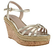 G.I.L.I. Leather Platform Wedge Sandals - Sunday - A254585