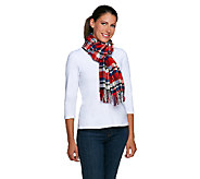 Joan Rivers Plaid Scarf with Fringe - A255185
