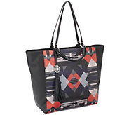 Rafe Large Joey Coated Canvas Tote w/ Leather Trim - A257785