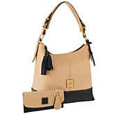 Dooney & Bourke European Leather Sophie Hobo w/ Accessories - A259485