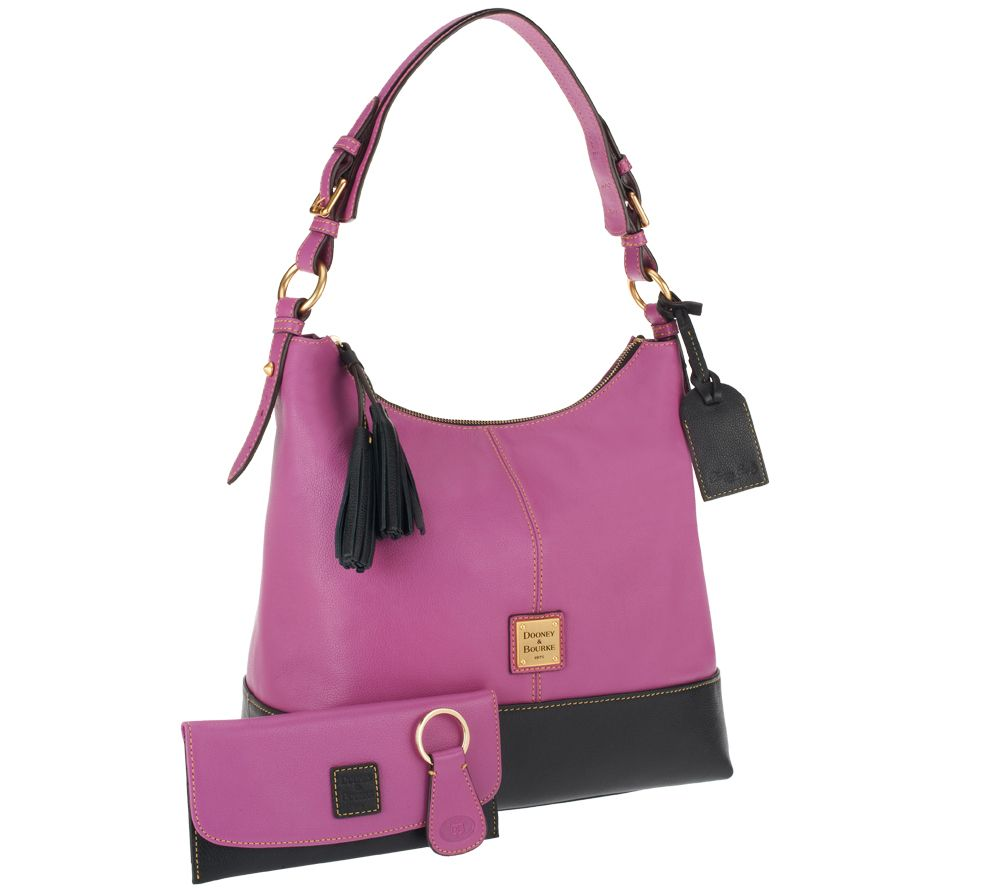 Dooney & Bourke European Leather Sophie Hobo w/ Accessories - Page ...