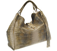 As Is G.I.L.I. Lizard Leather Large Hobo Bag - A260985