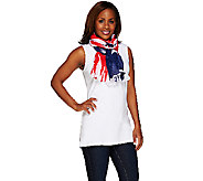 Denim & Co. 28 x 72 Stars & Stripes Print Scarf - A263285