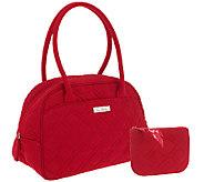 As Is Vera Bradley Microfiber Medium Bowler Bag - A266285