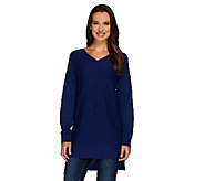 Denim & Co. V-neck Drop Shoulder Long Sleeve Sweater - A268085
