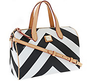 As Is Dooney & Bourke Large Chevron Olivia Satchel - A269585