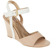 As Is Me Too Leather Wedges with Ankle Strap - Lucie - A271385