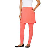 As Is Legacy French Terry Ankle Length Skirted Leggings - A272885