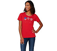 Quacker Factory Americana Novelty Short Sleeve T-shirt - A273885