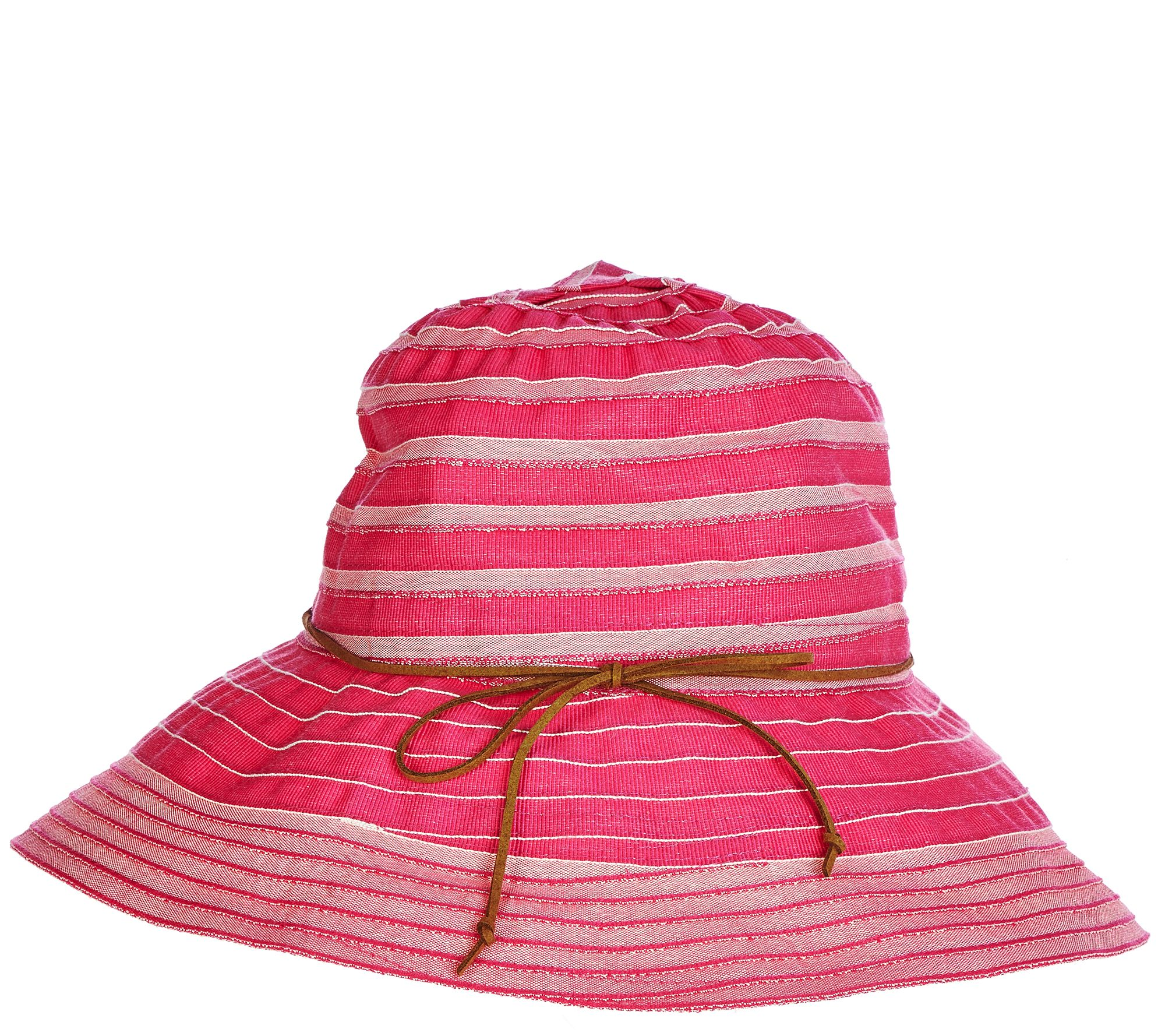 San Diego Two-tone Ribbon Collapsible Sun Hat