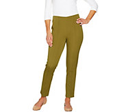 Isaac Mizrahi Live! Regular 24/7 Stretch Ankle Pants w/ Seam - A275585