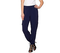 Lisa Rinna Collection Regular Banded Bottom Cargo Pants - A275985