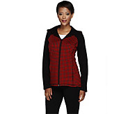 As Is Susan Graver Weekend Knit Hooded Zip Front Jacket - A276185