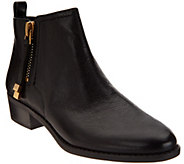As Is Franco Sarto Leather Ankle Boots w/ Side Zipper - Skylar - A277685