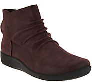 Clarks CloudSteppers Ruched Ankle Boots - Sillian Sway - A279385