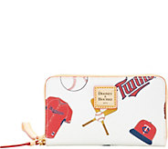 Dooney & Bourke MLB Twins Zip Around Phone Wristlet - A280885